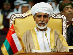 Oman's leader Sultan Qaboos bin Said attends the opening of the Gulf Cooperation Council (GCC) summit in Doha December 3, 2007