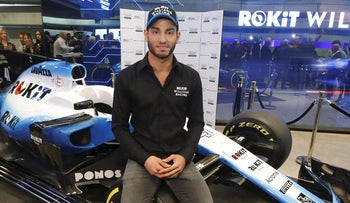 "The ROKiT Williams team presented Formula One's ""first"" Israeli driver in Tel Aviv, with racer Roy Nissany following in his father's footsteps"