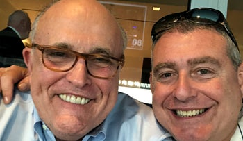 This undated image released by the House Judiciary Committee shows a photo of Lev Parnas, right, with Rudolph Giuliani.