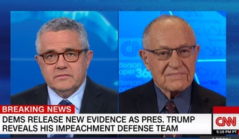 Dershowitz tells CNN abuse of power not impeachable offense
