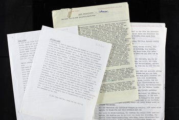 Unpublished accounts collected in the 1950s as part of The Wiener Library's project to gather eyewitness accounts of the Holocaust