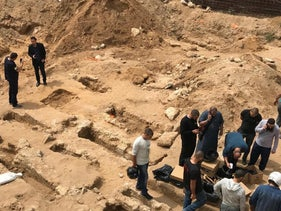 Gravesites discovered on the construction site in Jaffa in April