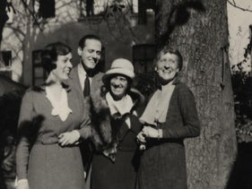 Freya von Moltke, Helmuth James von Moltke, Dorothy von Moltke (Helmuth James' mother), Ada Deichmann (Freya's mother) at the wedding of Helmuth James and Freya in Cologne, Germany, October 18, 1931.