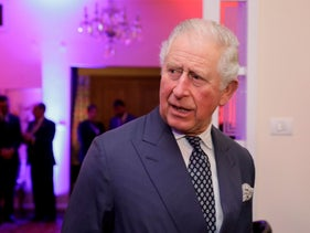 Britain's Prince Charles looks on as he arrives to a reception at the  British Ambassador residence in Ramat Gan, Israel, on January 23, 2020.