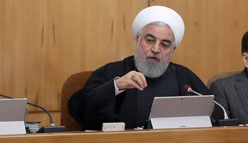 President Hassan Rohani chairing a cabinet meeting in Tehran on January 22, 2020.