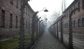 Auschwitz, where the largest mass murder in recorded history took place, during the ceremonies marking the 75th anniversary of the camp's liberation, Poland, January 27, 2020.