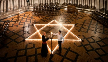 International Holocaust Remembrance Day in the Chapter House at York Minster in York, England, January 23, 2020.