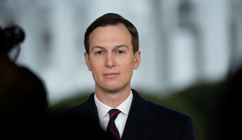 White House senior adviser Jared Kushner speaks during a television interview on the North Lawn of the White House in Washington, DC, January 29, 2020.