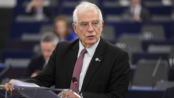 Josep Borrell speaks during a debate at the European Parliament in Strasbourg, France on January 14, 2020.