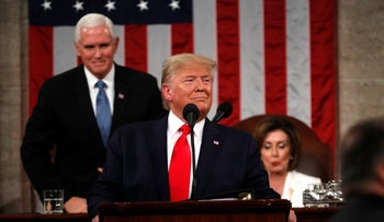 U.S. President Donald Trump's deliver his State of the Union address, Washington, U.S. February 4, 2020