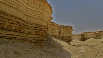 The Lisan Formation in the Dead Sea area. Tel Tsaf arose on what had been the bottom of the prehistoric Lake Lisan.