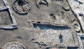 The archaeological site at Tel Tsaf in the Jordan Valley.