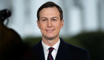 Jared Kushner speaks during a television interview at the White House, January 29, 2020.
