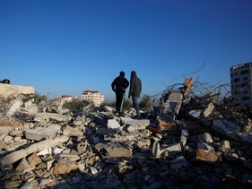 The ruins of a home demolished in Jenin on Thursday.
