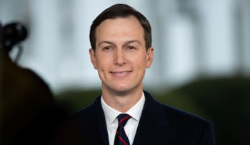 Jared Kushner speaks during a television interview on the North Lawn of the White House in Washington, DC., January 29, 2020.