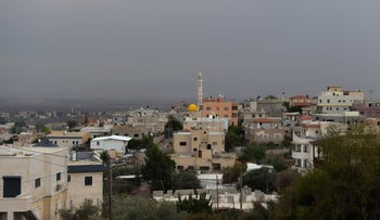 The Arab village of Salem, in the 'triangle' area of Arab towns on the West Bank border that would be included in a future Palestinian state according to Trump's Middle East plan, February 16, 2018.
