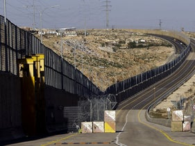 A newly opened segregated West Bank highway is seen near Jerusalem, January 10, 2019. Critics have branded the road an 'apartheid' highway.
