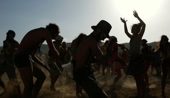 A Midburn festival in the Negev, May 21, 2015.
