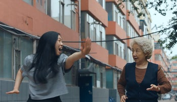 """Awkwafina and Shuzhen Zhao in """"The Farewell."""""""