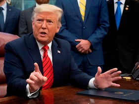 'The White House endorses revoking the citizenship of 300,000 inhabitants of Israel's Arab communities': US President Donald Trump in the Oval Office of the White House, Feb 11, 2020