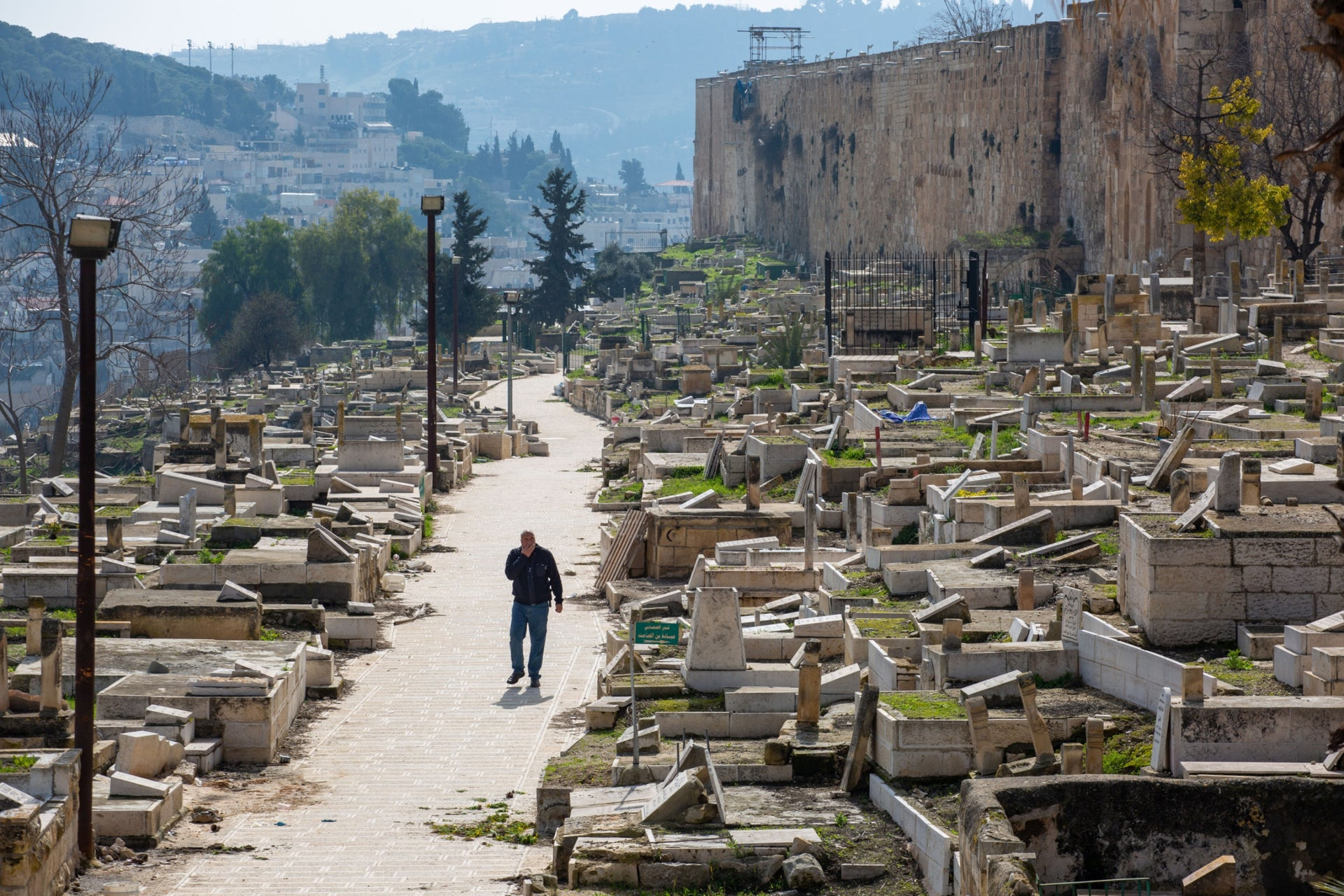 A cemetery in the Old City of Jerusalem, February 2020.