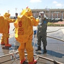 An exercise at the Knesset intended to simulate the response to an emergency involving dangerous substances.