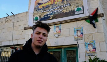 Mohammed Tamimi outside his home this week.