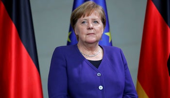 German Chancellor Angela Merkel attends a presentation of a new commemorative coin at the Chancellery in Berlin, Germany, February 14, 2020.