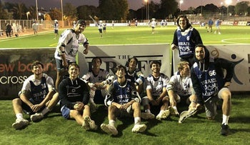 Israel Lacrosse players at the new dedicated lacrosse field in Ashkelon, January 2020.