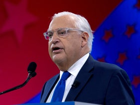 U.S. Ambassador to Israel David Friedman speaks at the 2019 American Israel Public Affairs Committee (AIPAC) policy conference, at Washington Convention Center, in Washington, D.C., March 26, 2019.