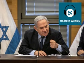 Prime Minister Netanyahu at a meeting of his Likud faction in Feb. 2020.