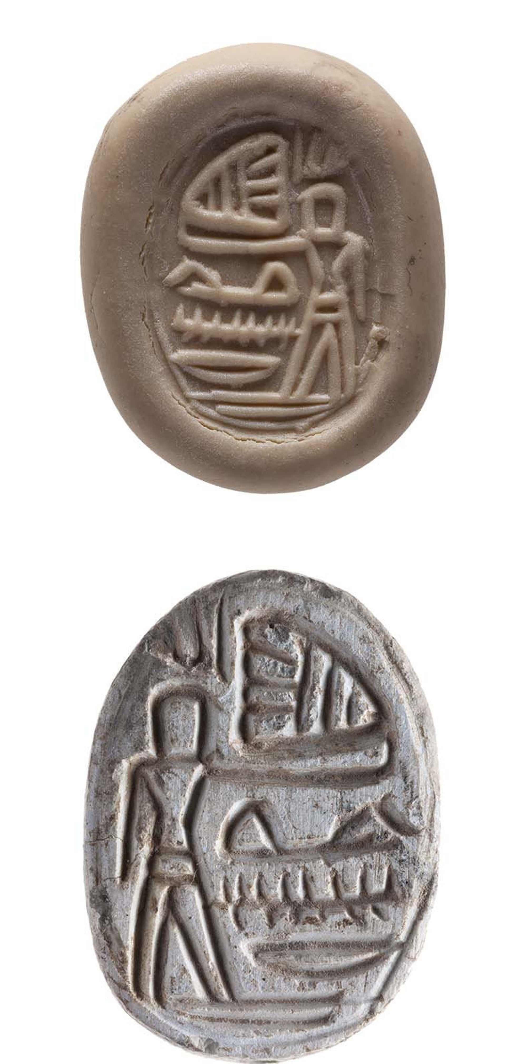 Signs of Egyptian influence: Scarab found at Lachish