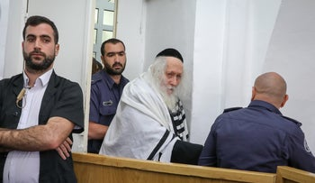 Eliezer Berland has his remand extended in court, February 13, 2020.