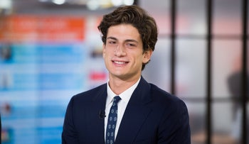 "Jack Schlossberg on May 5, 2017, when he appeared on ""The Today Show"" in New York with his mother, Caroline Kennedy."