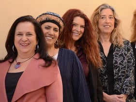 The women of the Kol Hanashim political party. Co-founder Elana Sztokman is on the left.