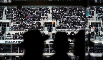 Orthodox Jews take part in the 13th Siyum HaShas, a celebration marking the completion of the Daf Yomi at the MetLife Stadium in East Rutherford, New Jersey, U.S., January 1, 2020.