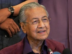 Malaysian Prime Minister Mahathir Mohamad, speaks during a press conference in Putrajaya, Malaysia, February 22, 2020