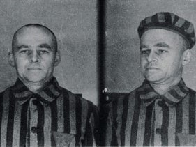 Photos of Witold Pilecki which were taken upon his arrival to Auschwitz. He went in to gather intelligence and report about the mass murders, and to organize a possible attack against the Nazis.