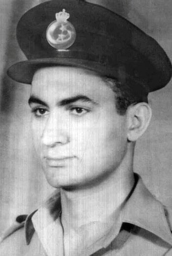 An undated photo of Hosni Mubarak as a young Royal Egyptian Air Force Lieutenant taken before the revolution that deposed King Farouk in 1952.