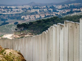 Picture taken on February 11, 2020 shows a view of the Israeli settlement of Ma'aleh Adumim in the West Bank on the outskirts of Jerusalem.