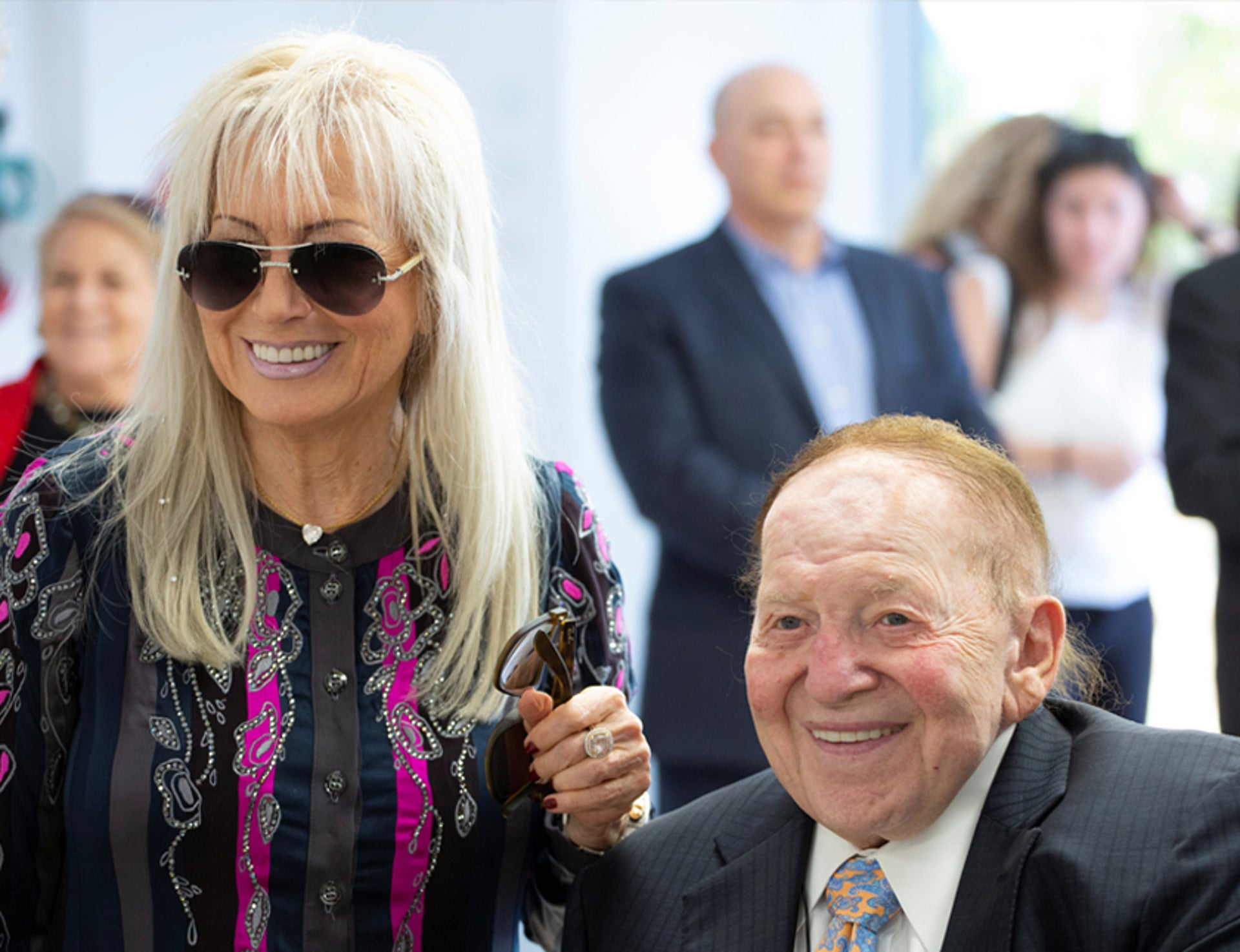 Israel Hayom owners Miriam and Sheldon Adelson