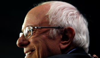 Presidential candidate Senator Bernie Sanders in an interview after the tenth Democratic 2020 presidential debate at the Gaillard Center in Charleston, South Carolina, U.S. February 25, 2020.