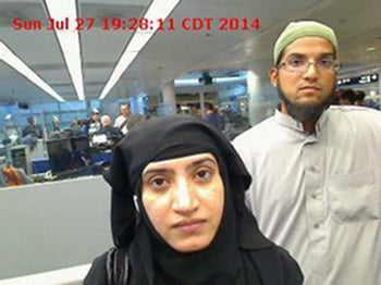 Security camera footage shows Tashfeen Malik and husband Syed Farook, who carried out San Bernardino massacre in California in December 2015.