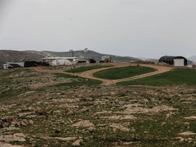 The Mitzpe Yehuda outpost south of the Kedar settlement, February 26, 2020.