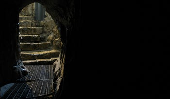 Entrance to tunnel at the Gihon Spring.