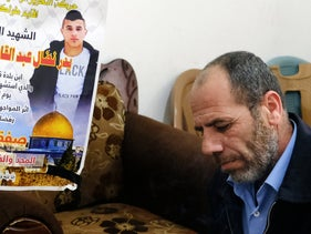 """Nidal Harashi, Bader's father. """"If this boy had been a Jew, the whole West Bank would have been sealed off. Why are we now also being punished?"""""""