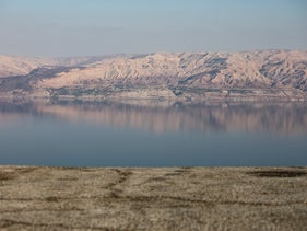 A look at part of the Dead Sea and the Judean Desert, December 4, 2019.