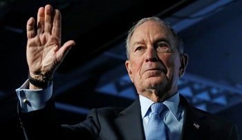 Democratic presidential candidate Mike Bloomberg at a campaign event in Salt Lake City, February 20, 2020.