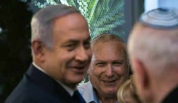 Netanyahu and Eshel at the Prime Minister's Residence in Jerusalem, August 6, 2018