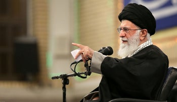 A handout picture provided by the office of Iran's Supreme Leader Ayatollah Ali Khamenei on February 15, 2020